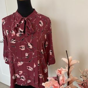 RW&co dusty pink floral top size small